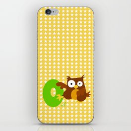 o for owl iPhone Skin