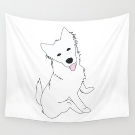 White Pupper Wall Tapestry