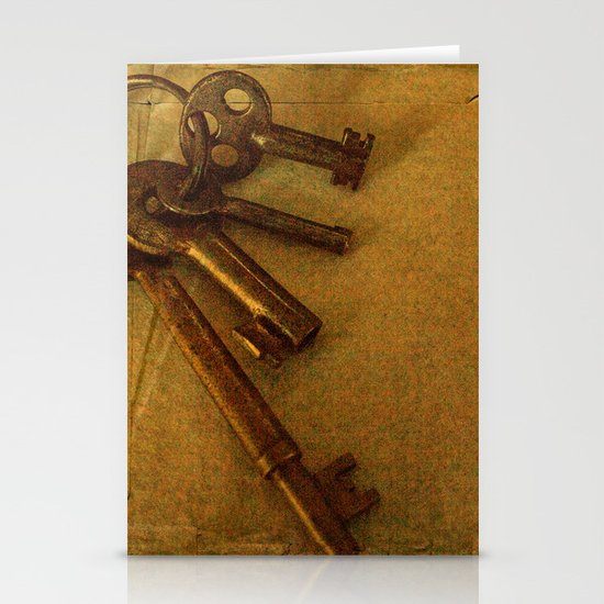 Old keys Stationery Cards