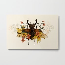 Blooming Beetle Metal Print