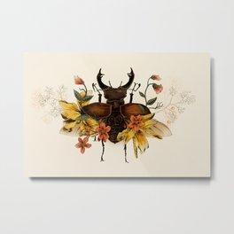 Blooming Beetle Metal Print