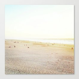 Ocean Beach, White Canvas Print