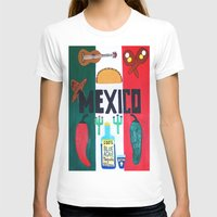 mexico T-shirts featuring Mexico by Jake Hollywood