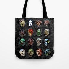 Horror Movie Monsters Masks (color) Tote Bag