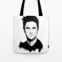 dave matthews Tote Bags featuring DAVE by Amanda Mocci
