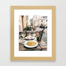 Dinner in Rome Framed Art Print