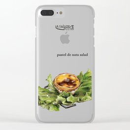 La Cuisine Fusion - Pastel de Nata Salad Clear iPhone Case