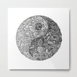 Yin-Yang Metal Print