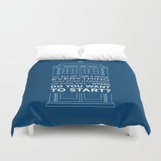 Doctor Who - TARDIS Where Do You Want to Start Duvet Cover