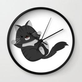 Casanova Black Long Hair Cat, Friendly and Adorable Wall Clock