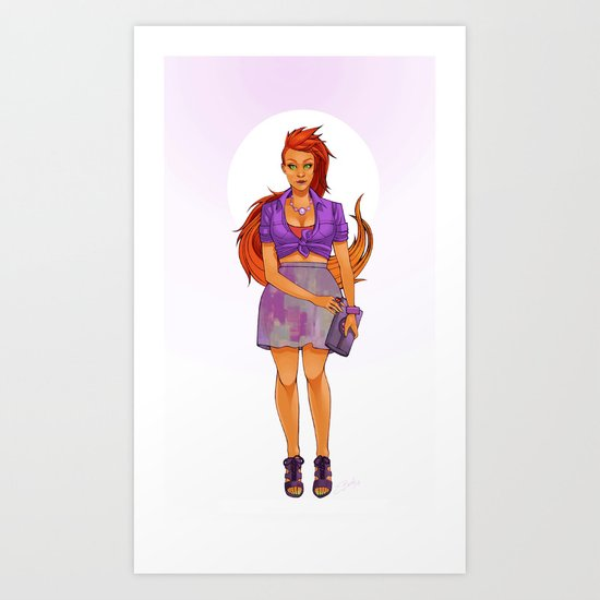 Koriand'r Art Print