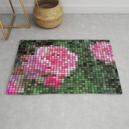 Pink Roses in Anzures 1 Mosaic Rug