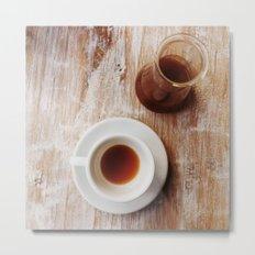 Coffee on the table Metal Print