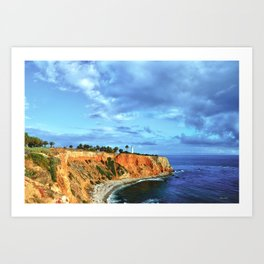 Pointe Vicente light house at the bluffs Art Print