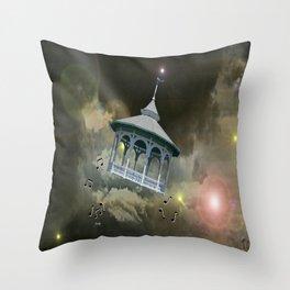 Bandstands Cosmic Music. Throw Pillow
