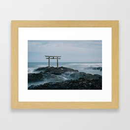 Ocean Shrine Framed Art Print