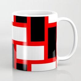 black red white tile pattern Coffee Mug