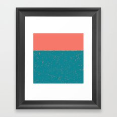 XVI - Peach 2 Framed Art Print