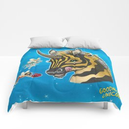 Goodnight Unicorn Zebra Comforters