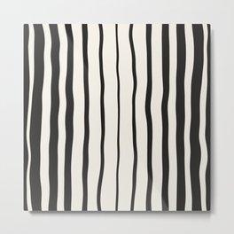 Black stripes,striping print Metal Print