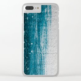 Distressed Wood Clear iPhone Case
