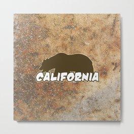 California Bear Metal Print