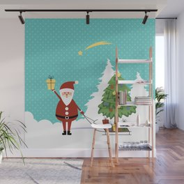 Santa Claus and gifts Wall Mural