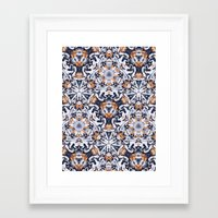 cigarettes Framed Art Prints featuring cigarettes pattern by Sushibird