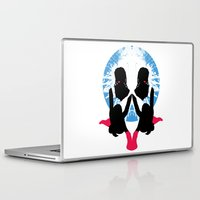 socks Laptop & iPad Skins featuring Pink Socks by Abby Rampling