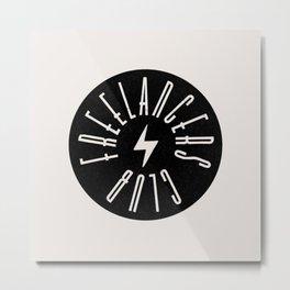 Freelancers Club Badge Metal Print