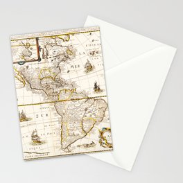 Map of North and South America (1661) Stationery Cards