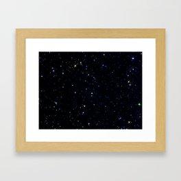 Rainbow Constellations Framed Art Print