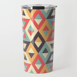 Pastel Geometric Pattern Travel Mug