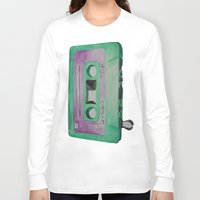 cassette Long Sleeve T-shirts featuring Cassette by TrishRay