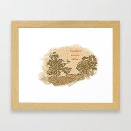 """Trees Of Catalina #2""/Simple Friendship Framed Art Print"