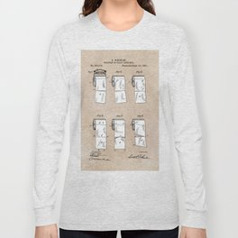 patent - Wheeler - Wrapping or Toilet paper roll - 1891 Long Sleeve T-shirt