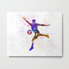 man soccer football player 14 Metal Print