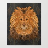 the lion king Canvas Prints featuring King Lion by ArtLovePassion