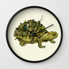 Turtle Town Wall Clock