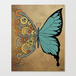 Steampunk Butterfly Canvas Print