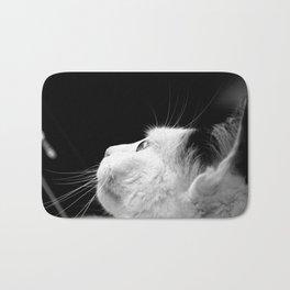 Black & White Cat Bath Mat