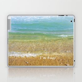 I'm Busy / Beach Laptop & iPad Skin