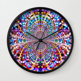 Dance of the lights Wall Clock