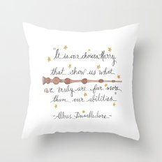 Choices Dumbledore J.K. Rowling Quote Throw Pillow
