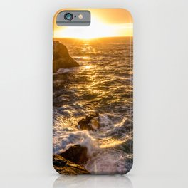 In Waves - Waves Crashing Into Rocks at Sunset In Big Sur iPhone Case