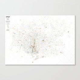 atNight / Barcelona night and day Canvas Print