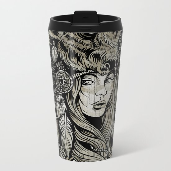 Spirit of the Buffalo Metal Travel Mug