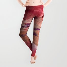 Blushing [4]: a vibrant, minimal abstract in pink, red, and purple Leggings