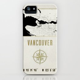 Vancouver - Vintage Map and Location iPhone Case