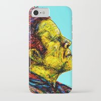tom waits iPhone & iPod Cases featuring Tom Waits by Alec Goss